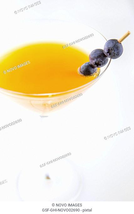 Martini with Blueberries
