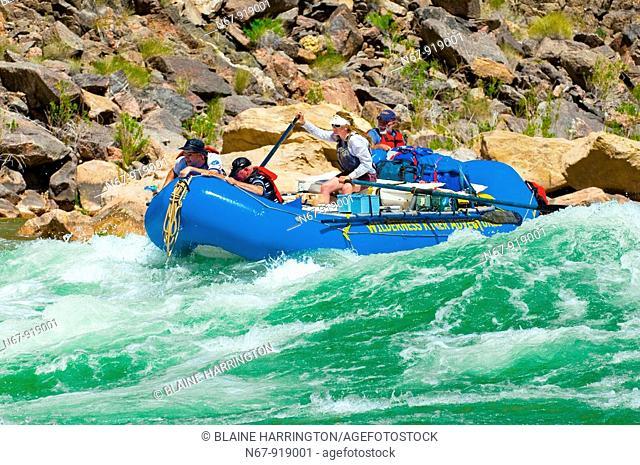 Whitewater rafting, Hermit Rapid, Grand Canyon, Grand Canyon National Park, Arizona USA