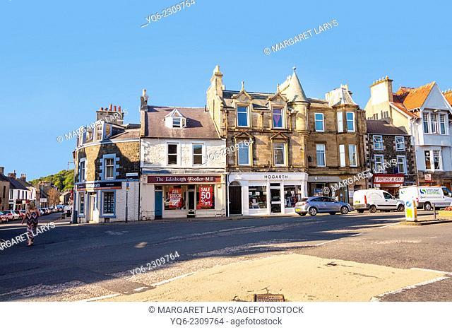 Streets of Peebles, Scotland, United Kingdom