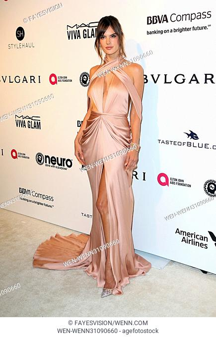 25th Annual Elton John AIDS Foundation's Academy Awards Viewing Party Featuring: Alessandra Ambrosio Where: West Hollywood, California