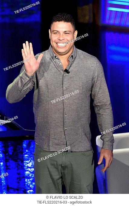 The former football player Ronaldo Luis Nazario de Lima guest at the tv show ' Che tempo che fa' Milan, ITALY-20-02-2016