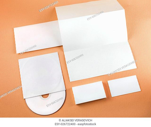 Template for branding identity. Top view