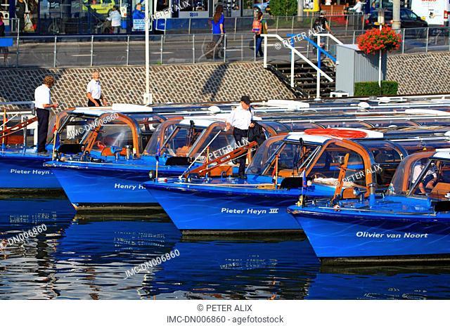 Netherlands, North Holland, Amsterdam, river boat