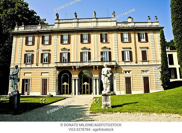 Como, Lombardy, Italy. Villa Gallia is located in Como in Via Borgovico and is the oldest villa in the street. The abbot Marco Gallio