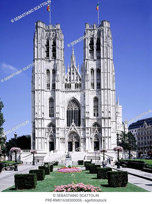 The St. Michael and St. Gudula Cathedral, Brussells, Belgium, Europe / Die Kathedrale St.Michael und St.Gudula, Brüssel, Belgien, Europa