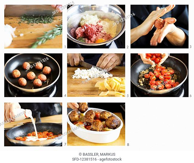 How to make meatballs with cheese and tomato