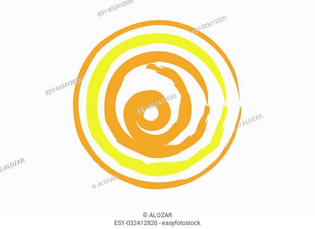 Designed as a modern sun vector image