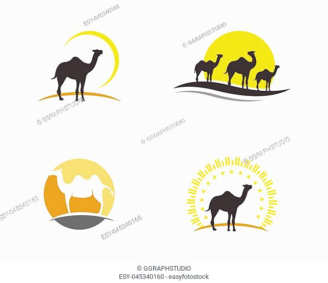 Camel Icon Vector illustration design Logo Template