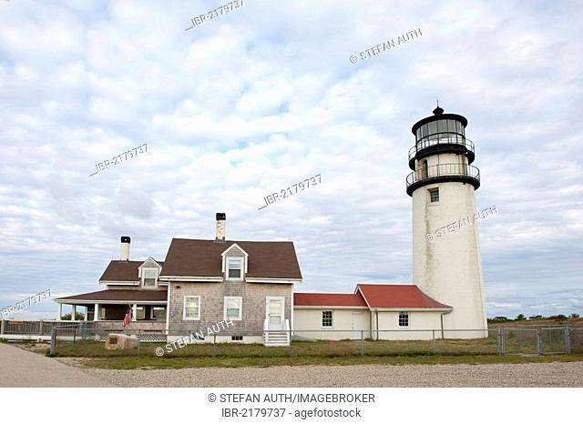 Lighthouse, Highland Light, North Truro, Cape Cod National Seashore, Massachusetts, New England, USA, North America