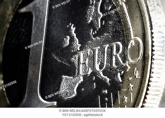 euro, coin, money