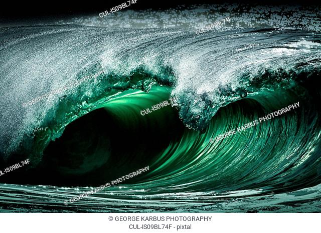 Riley's wave, a giant barreling wave, Kilkee, Clare, Ireland