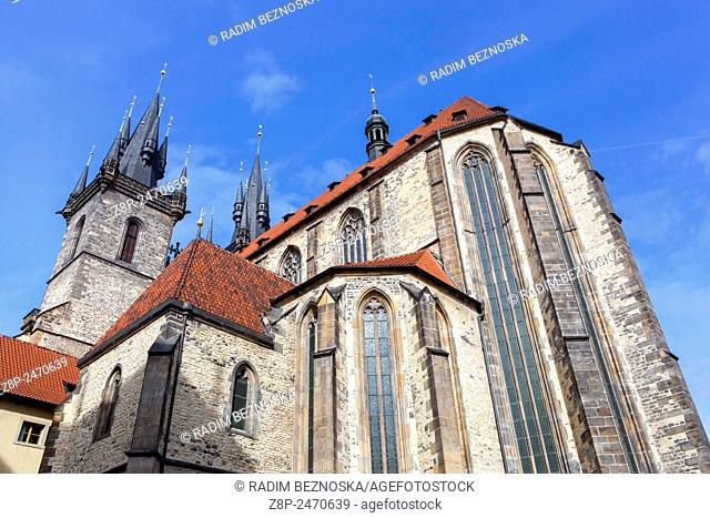 Church of Our Lady in front of Tyn, Prague, Czech Republic