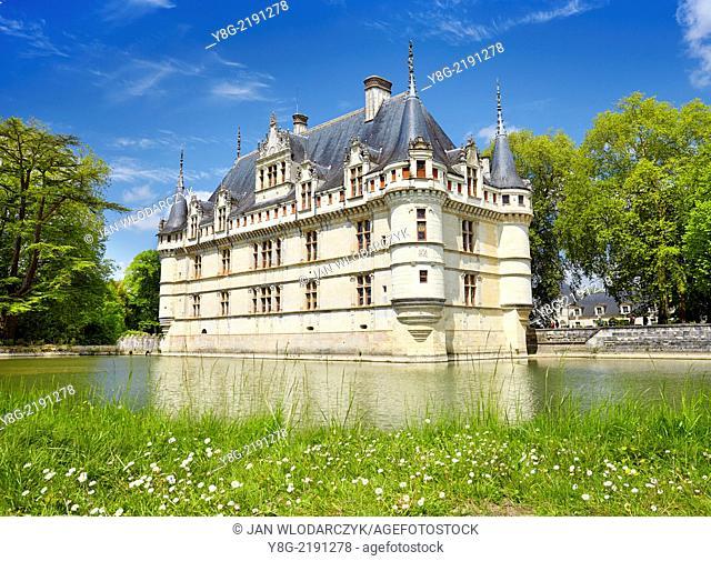 D'Azay-le-Rideau Castle, Loire Valley, France