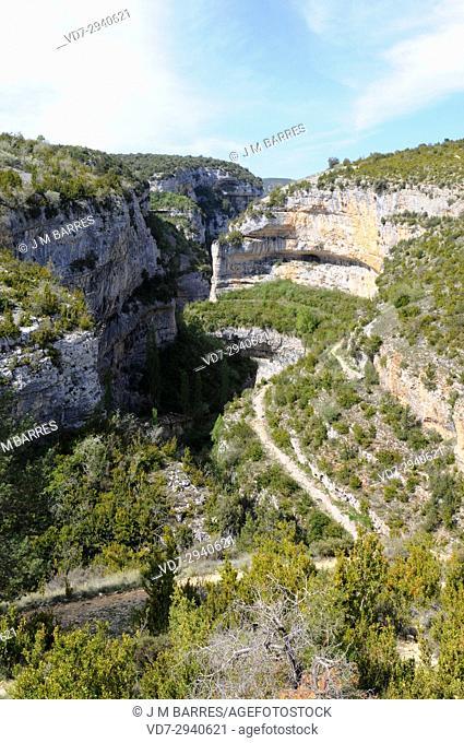 Mascun Canyon, near Rodellar. Sierra y Cañones de Guara Natural Park. Huesca province, Aragon, Spain