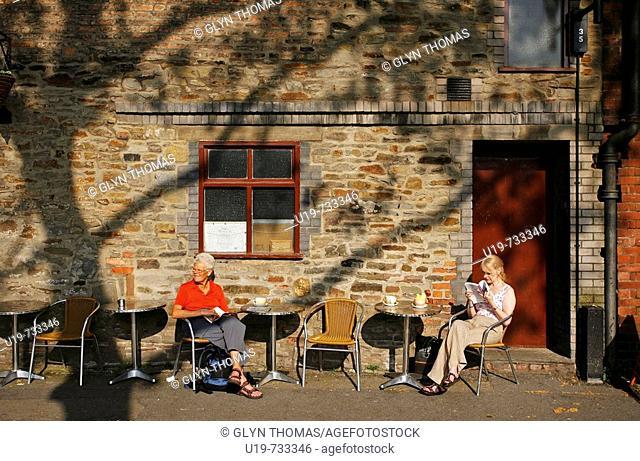 Cafe outside Arnolfini, Bristol, England, UK
