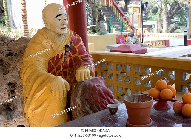 A Buddhist monk statue at Tsing Shan temple, New Territories, Hong Kong