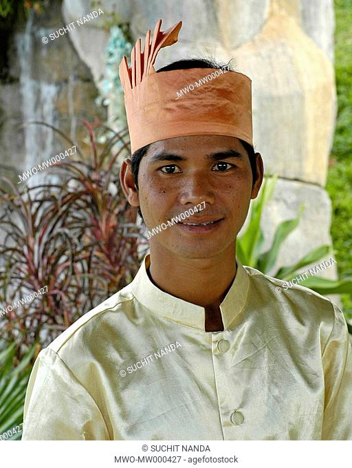 This young man was one of the performers in a dance held at the cultural village in Siem Reap, Cambodia The 'Cambodian Cultural Village' center in Siem Reap...