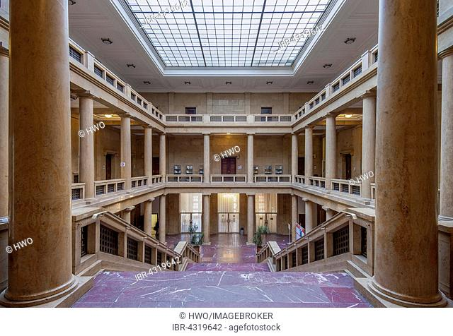 Entrance hall, Academy of Music and Theatre, built in 1937 for Adolf Hitler for representational purposes, Munich, Bavaria, Germany