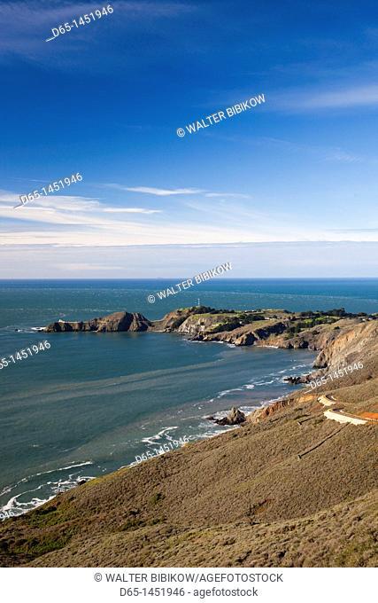 USA, California, San Francisco Bay Area, Marin Headlands, Golden Gate National Recreation Area, Point Bonita, morning
