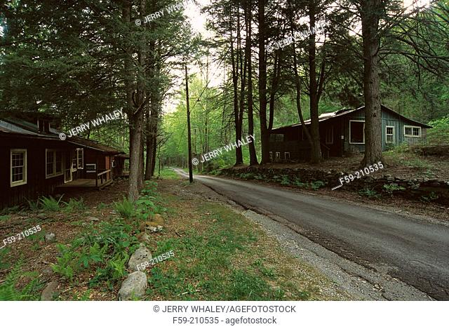 Elkmont Cabins. Great Smoky Mountains NP. Tennessee. USA