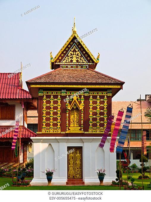 Tripitaka house, Wat Hua Kwang, Nan Thailand