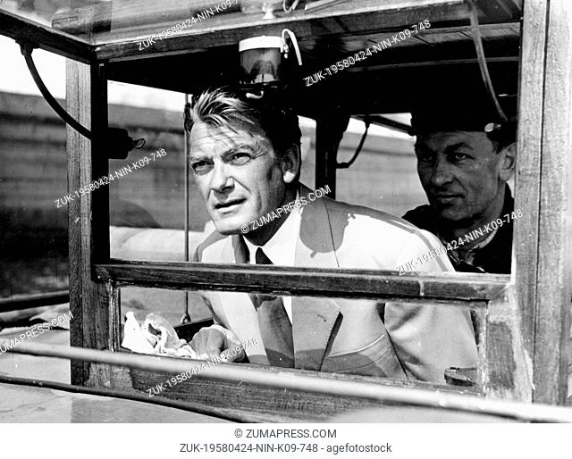 April 24, 1958 - Hamburg, Germany - The extremely good-looking French actor JEAN MARAIS was hardly a prize-winning performer in his formative years but big...