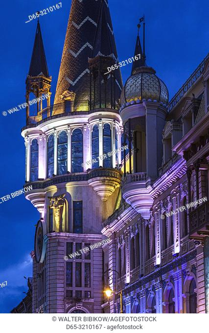 Georgia, Batumi, Astronomical Clock Building, dawn
