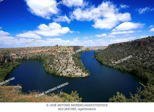 Hoces del Duraton, Duratón river gorges, Hoces del Río Duratón Natural Park, Sepulveda, Segovia province, Castilla-Leon, Spain
