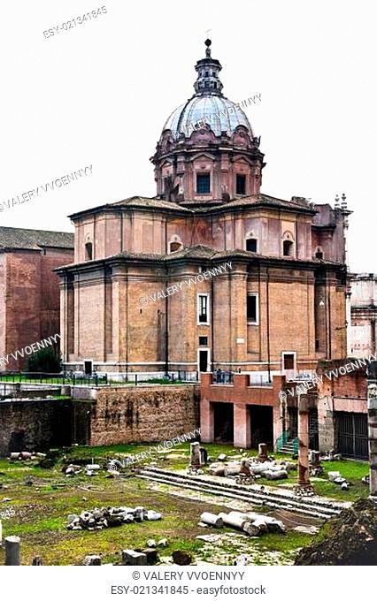 Santi Luca e Martina church in Rome, Italy