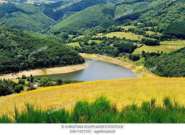 La Truyere River, Cantal department, Auvergne region, France, Europe