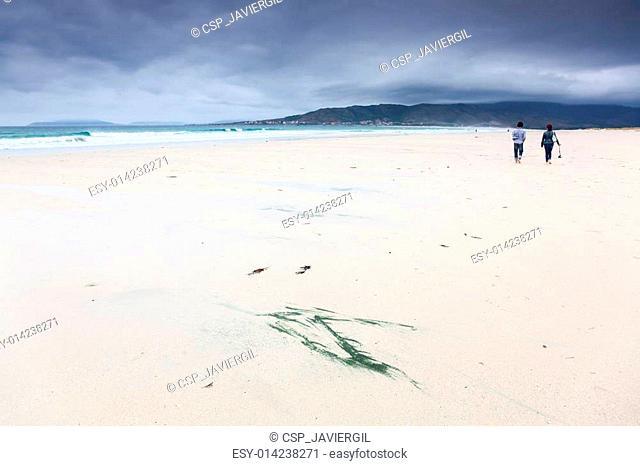 Beach of Carnota, La Coru?a, Galicia, Spain