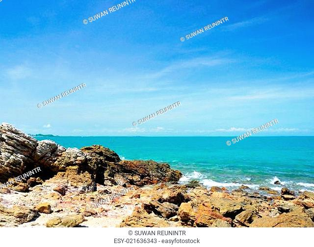 Rock in the sea is beautiful at Koh Kood of Thailand