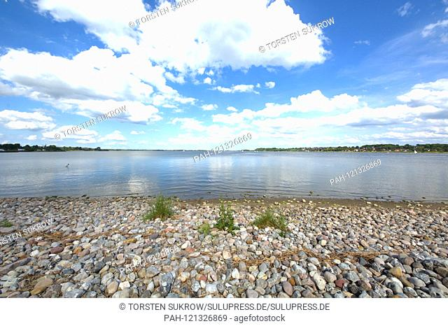 """09.06.2019, the loop in Schleswig from the district """"""""On Freedom"""""""". The Ostseefjord, a Baltic Sea inlet filled with brackish water, is a popular sailing area"""