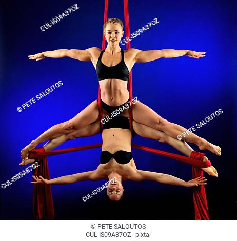 Women performing acrobatics