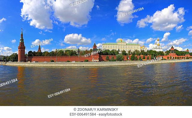 Panorama of Moscow Kremlin. Russia