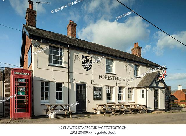 Early spring at a country pub in Fairwarp, East Sussex, England. Ashdown Forest