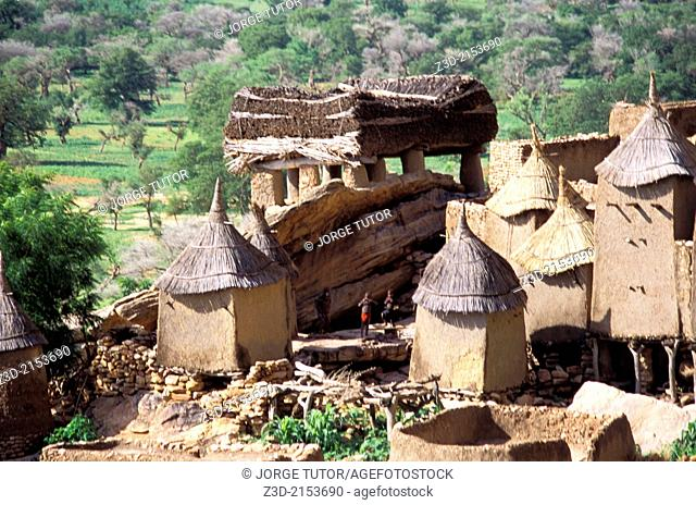 Mud houses in Ireli, Dogon Country. Mali