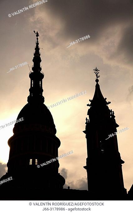 Dome of the San Gaudencio Basílica. Novara. Italy