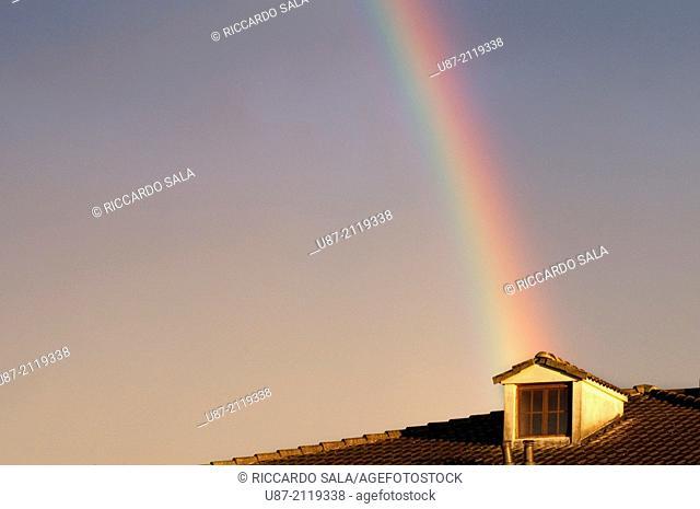 Italy, Lombardy, Rainbow on the Sky