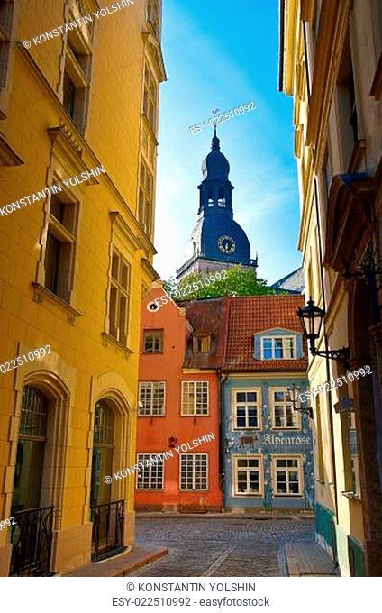 Riga old town street