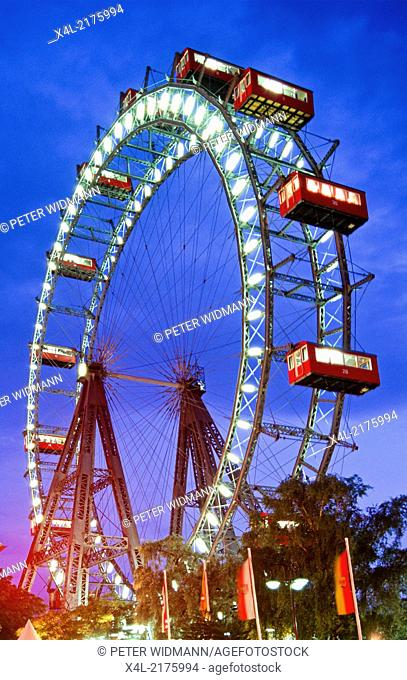 "Giant Ferry Wheel (""""Riesenrad""""), Prater Vienna, Austria, Vienna, 2. district, Prater"