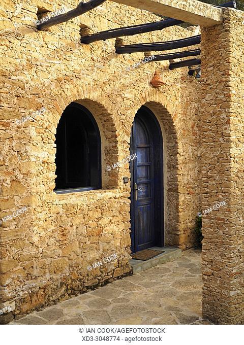 entrance to guest room at La Val dâ. . Argan vineyard, Ounagha, Morocco