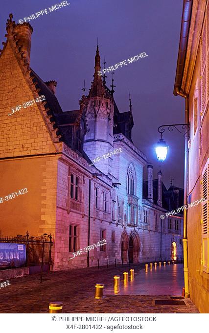 France, Cher (18), Bourges, illumination during Les nuits lumières de Bourges, Jacques Coeur Palace