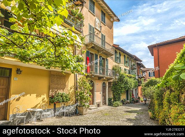 At the old town of Pescallo near Bellagio at Lake Como, Lombardy, Italy