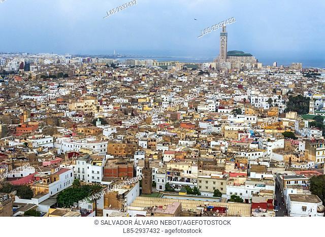 Panoramic view from Sofitel Hotel, Casablanca, Morocco