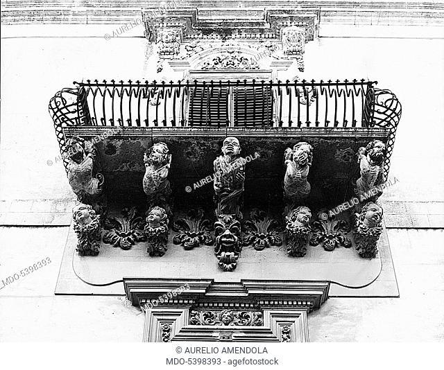 Nicolaci palace balcony (Balcone di palazzo Nicolaci), by Rosario Gagliardi, 1720, 18th Century