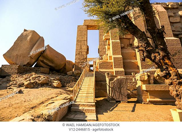 Ramesseum Temple of Ramses II, c 1278-c 1260 BC, Luxor West bank, Egypt