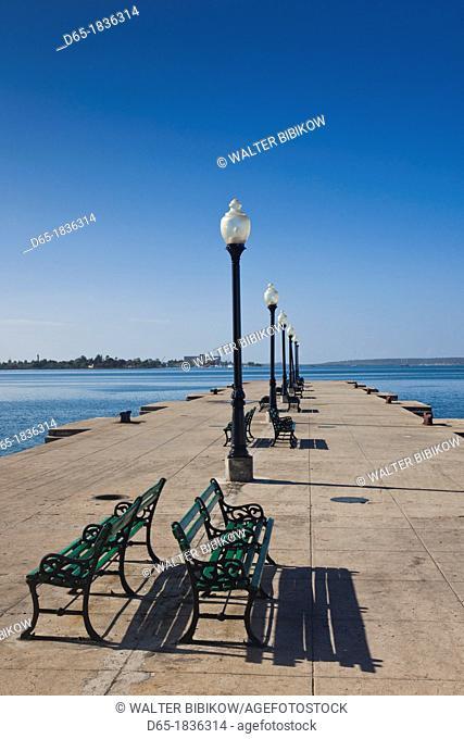 Cuba, Cienfuegos Province, Cienfuegos, town pier on Bahia de Cienfuegos bay