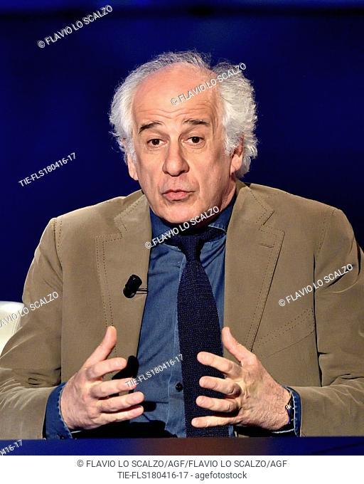 The actor Toni Servillo at tv programme Che tempo che fa, Milan, ITALY-17-04-2016
