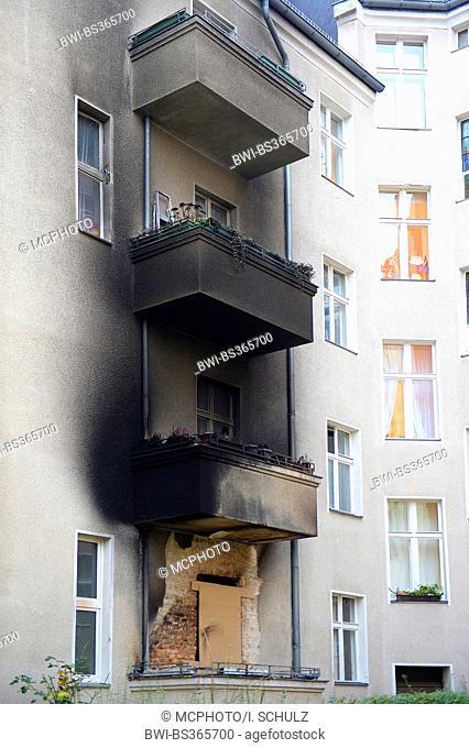 burned flat in silvester in Berlin , Germany